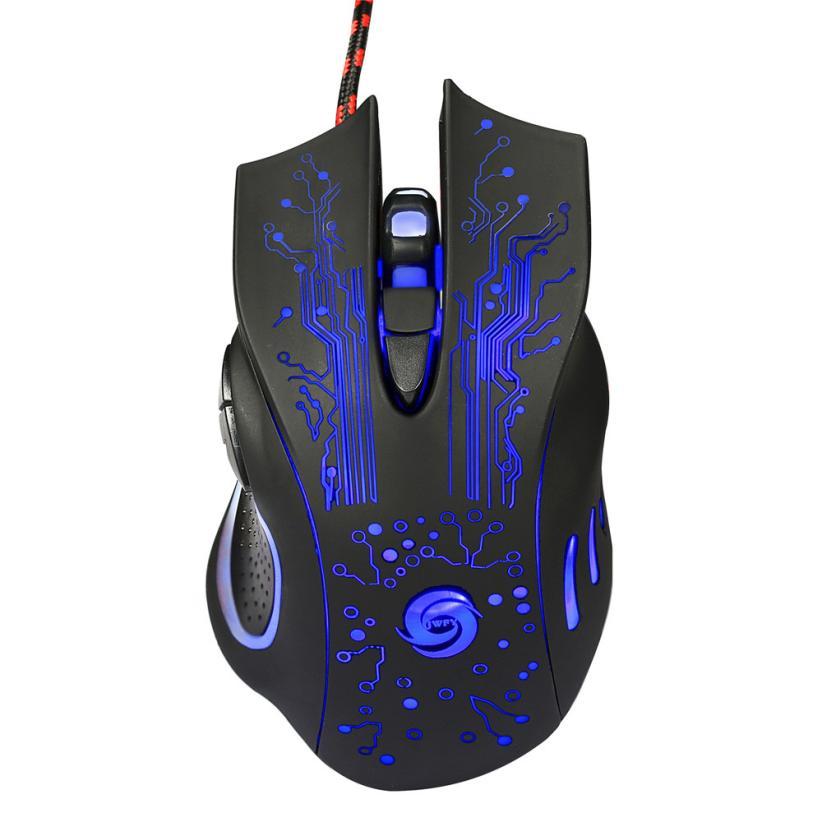 O transporte da gota 6 Botão 5500 DPI LED Optical USB Wired Gaming PRO Mouse Mouse Para PC Portátil De Agosto De 25
