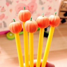 40pcs/lot Kawaii 3D Pumpkin Design Gel Pen 0.38mm Black Ink Stationery Students Gift Prize Office School Supplies Wholesale
