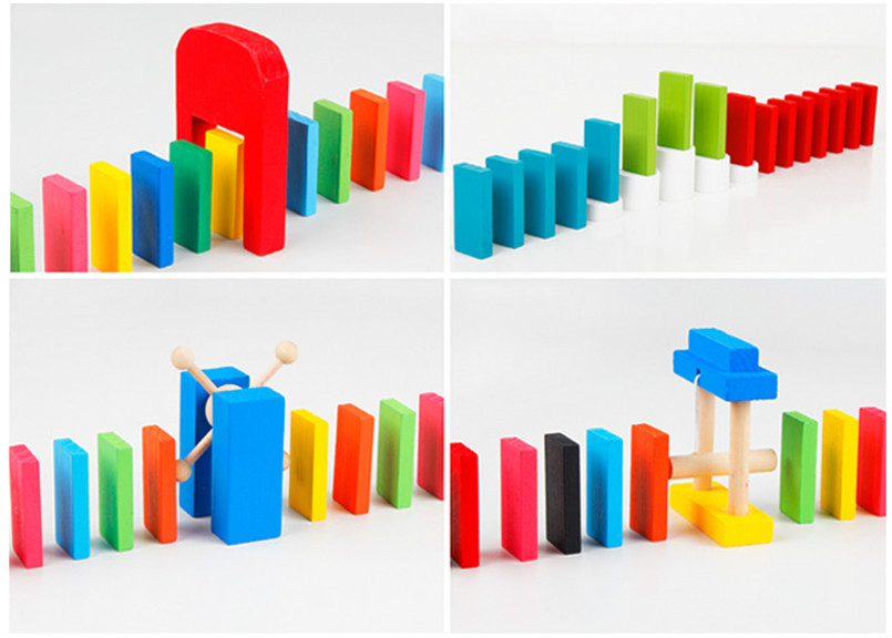 120 шт./компл. деревянное домино учреждения аксессуары Органы радужных блоков головоломки домино Монтессори Развивающие игрушки для детей