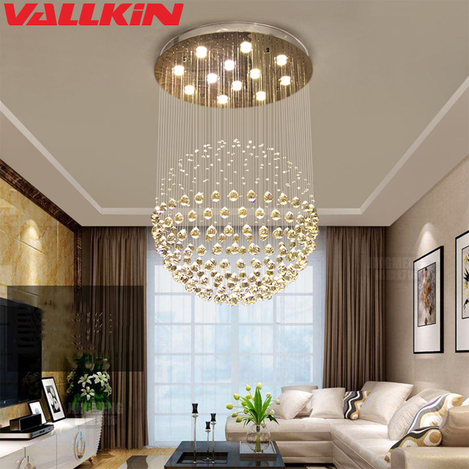 Official Website Free Shipping New Led Ceiling Lamps Led Lamps Living Room K9 Crystal Ceiling Lamp E14 Led Light Led Lustre Light Ceiling Lights Ceiling Lights