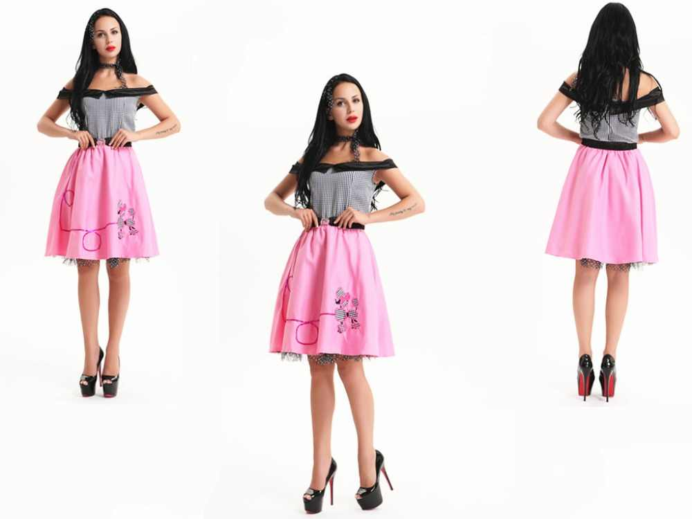 b5f6e4b82b Detail Feedback Questions about free shipping Womens 1950 s Grease  Rockabilly Rock N Roll Dance Fancy Dress Costume All size m l xl 2XL on  Aliexpress.com ...