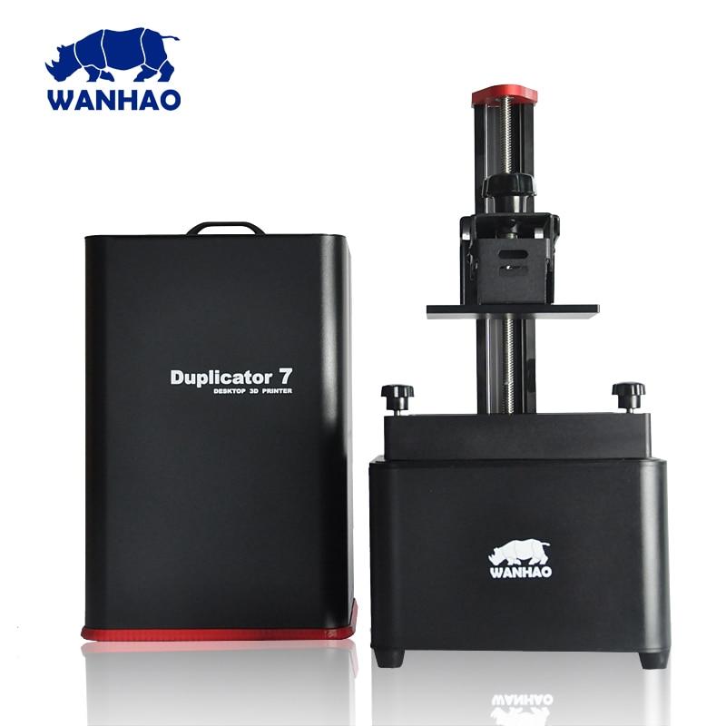 2017 NEW VERSION factory direct shipping WANHAO DUPLICATOR 7 V1.4 DLP UV RESIN 3d printer machine with 250ml resin for free wanhao steel frame desktop digital 3d printer duplicator i3 v2 1