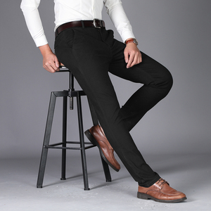 Image 5 - Брендовые мужские прямые брюки NIGRITY, новинка сезона осень зима 2020, деловые повседневные хлопковые брюки, мужские брюки большого размера 28 42