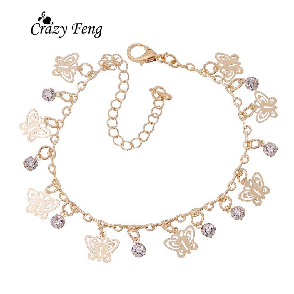 Nouveau Design de mode or-couleur papillon forme bracelets pour femme main chaîne bijoux cadeau livraison directe - 2