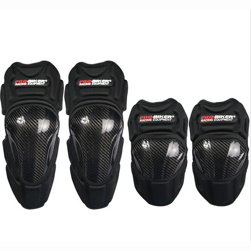 PROBIKER мотоциклетные наколенники из углеродного волокна налокотники Защита тела Защита для мотокросса гонок наколенники MX Наколенники Защи...