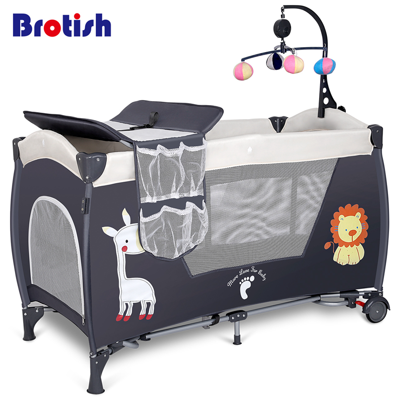 Environmental protection baby multifunctional folding crib infant baby bed kids bed baby portable playpen bed free shipping 2016 hot sale baby crib portable detachable folding bed baby portable multifunctional folding baby bed