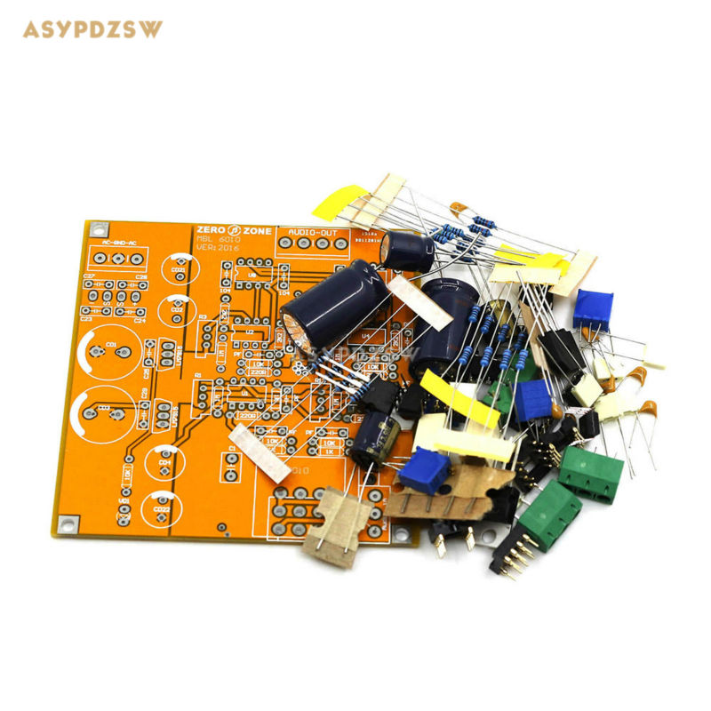 HIFI 6010 Preamplifier DIY Kit base on Germany MBL6010D Preamplifier circuit finished germany mbl6010d circuit full balance preamplifier good sound amplifier c9