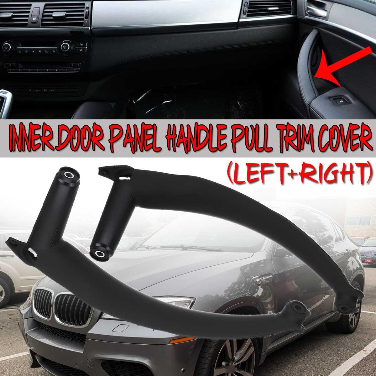 Alta Qualidade Interior Maçaneta Da Porta Do Carro Para BMW E70 X5 SAV 2007-13 E71/E72 X6 SAV 2008 -14 interior Painel Da Porta Pull Handle Guarnição Da Tampa