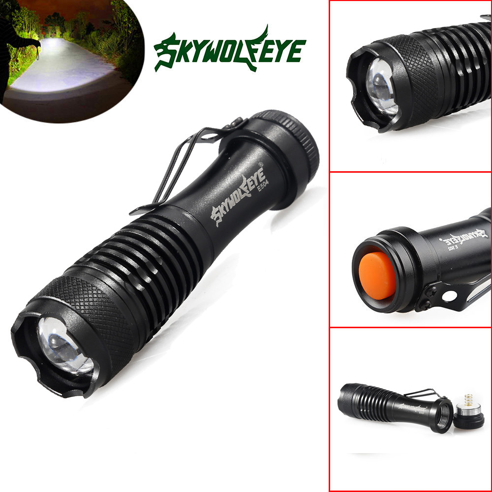 MUQGEW 6X Mini Q5 7W 2000Lm LED Flashlight Torch Lamp Adjustable Focus Zoom Light Camping Built In Battery
