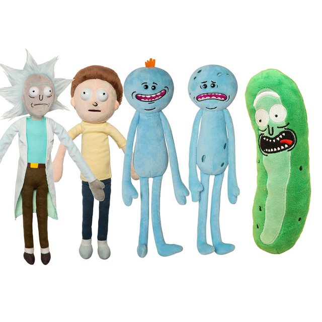 Rick and Morty Pickle Rick Happy & Sad Meeseeks Stuffed Doll Plush Toy