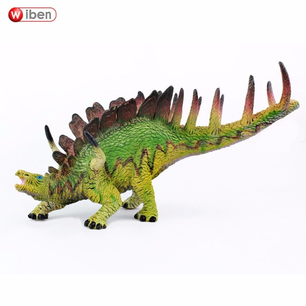 Wiben Jurassic Kentrosaurus dinozauru rotaļlietas Rīcības attēls Dzīvnieku modeļa kolekcija Mācīšanās un izglītojošie bērni Dāvanu klasiskais rotaļlieta