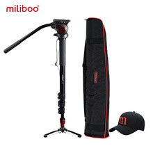 miliboo MTT705A Aluminum Portable Fluid Head Camera Monopod for Camcorder /DSLR Stand Professional Video Tripod 72″Max Height