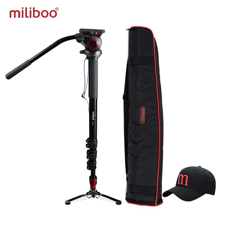 miliboo MTT705A Aluminum Portable Fluid Head Camera Monopod for Camcorder DSLR Stand Professional Video font b