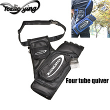 Outdoor Hunting Archery Accessories Compound Bow/Recurve Bow Four Tube Quiver Black Blue Shooting Tubes
