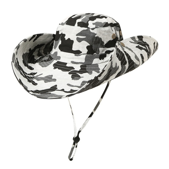352265791fbbc Outdoor Fishing Hat Men Camflage Military Fisherman Hat Hombre Jungle  Hiking Hat Boys Bucket Hat for Men