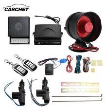Carchet 2 puerta del coche a distancia cierre centralizado remoto de entrada sin llave kit de alarma antirrobo sistemas de seguridad de alarma de coche universal