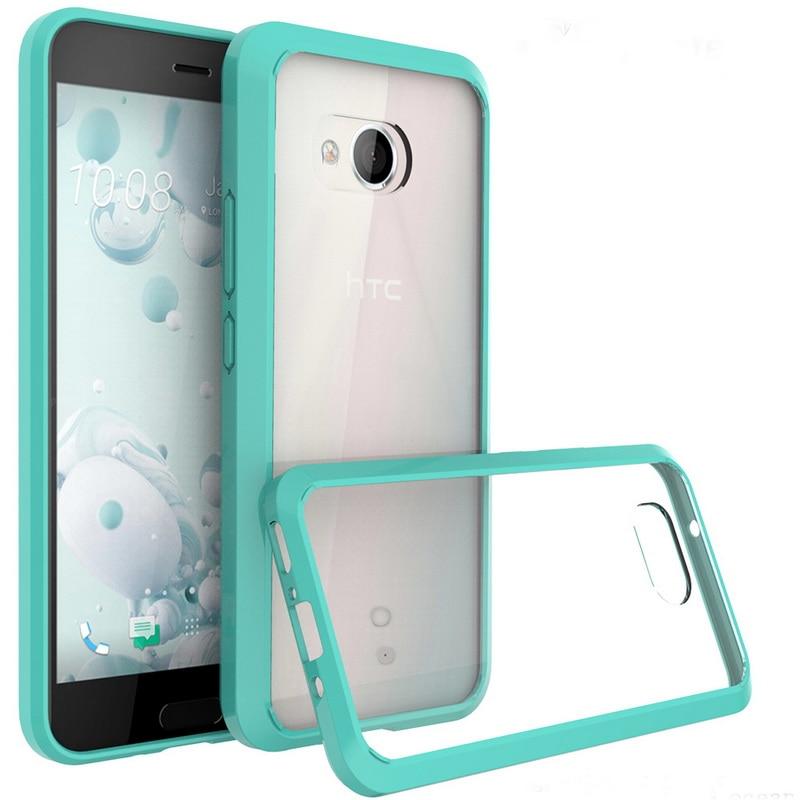 For HTC U11 Case 5.5 inch Silicone Armor Hybrid TPU+PC Hard Acrylic Bumper Crystal Transparent Cover For HTC U11 U 11 Phone Case
