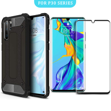 VALAM Tempered Glass Screen Protector With Case For Huawei P30 Pro Full Body Cover Glass For Huawei P30 lite With 2 in 1 Case