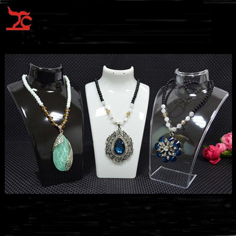 3 x Fashion Jewelry Display Bust Stand Acrylic Jewelry Necklace