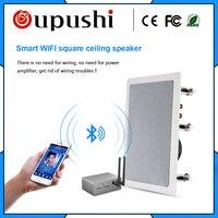 Oupushi VX5 W квадратный Смарт Wi Fi динамик Hifi в потолок Bluetooth для задний план музыка системы