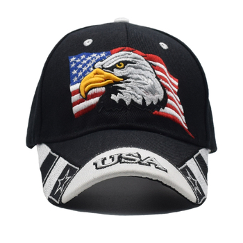 2019 Black Cap USA Flag Eagle Embroidery Baseball Cap Snapback Caps Casquette Hats Fitted Casual Gorras Dad Hats For Men Women 2