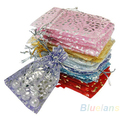 25pcs/set Organza Jewelry Wedding Gift Pouch Bags 7x7cm 3X3 Inch Mix Color for Party Holiday New Year Use 00YZ
