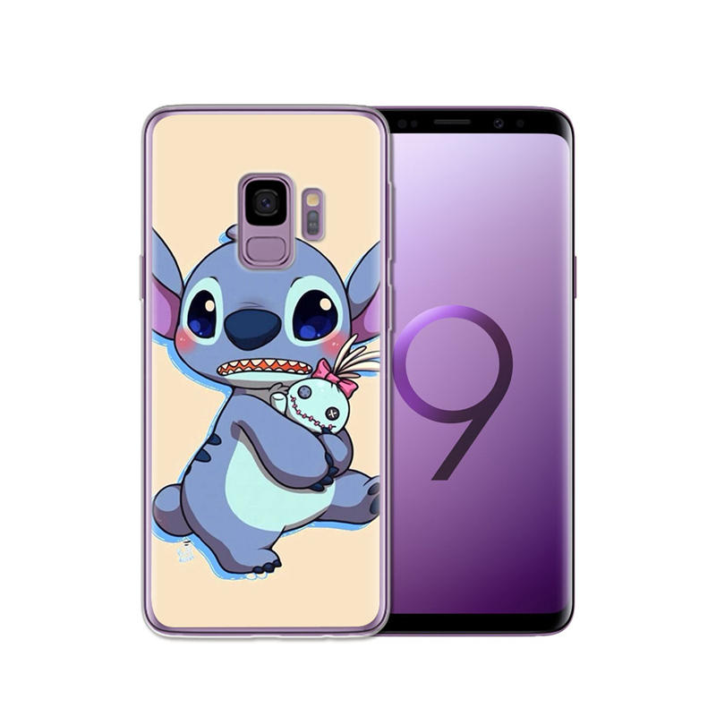 Cute Cartoon Stich Coque Shell Soft Silicone Tpu Phone Case For Samsung Galaxy S6 S7 Edge S8 S9 Plus Note 9 Note 8 Phone Pouch Cellphones & Telecommunications