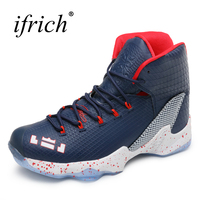 Ifrich New 2018 Men Women Basketball Sneakers Couples Sport Shoes For Basketabll Play Blue Red Basketball
