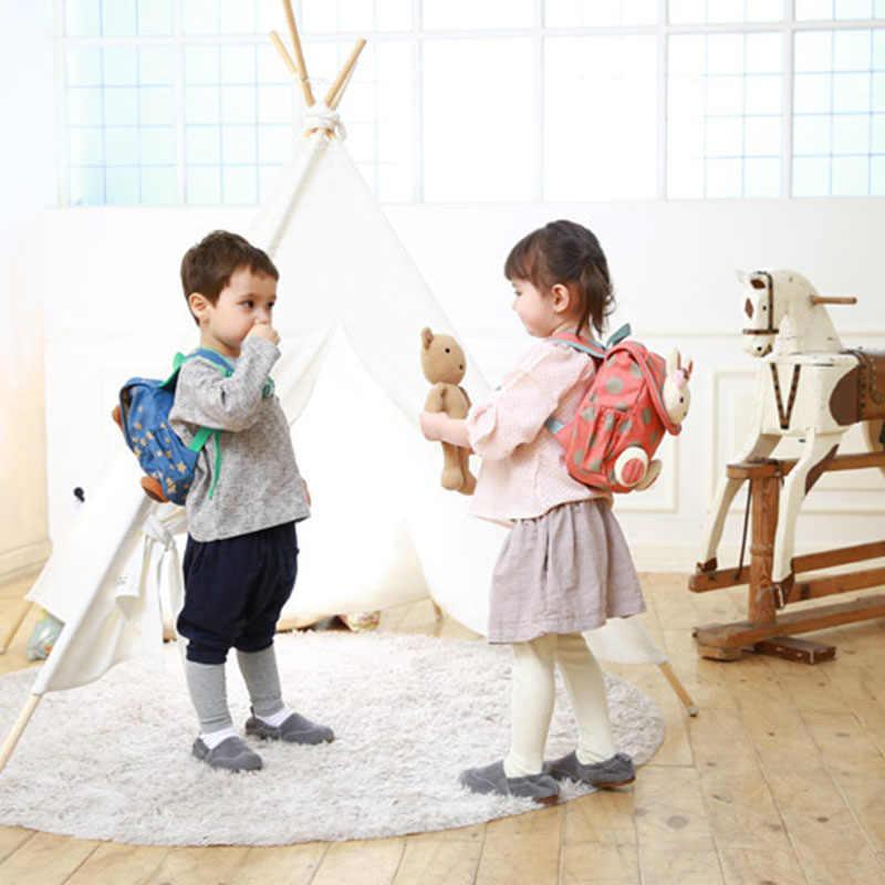 BAIJIAWEI 2019 בעלי החיים סגנון תיק בית הספר חמוד ארנב קטיפה שרוך תרמיל ילדים ילקוט בנות גן ילדים תיק