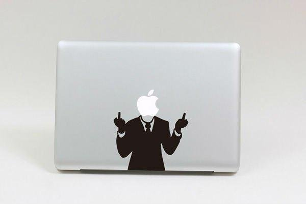 Vertical Middle Finger Vinyl Decal Protective Laptop Sticker For - Vinyl stickers for laptops