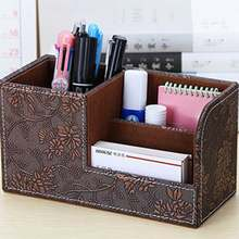 1pcs Multi-function Pen Holder Office Female Desktop Storage Box Desk Stationery Barrel Rack Makeup brush holder UY8(China)