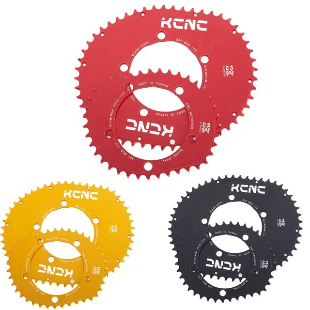 KCNC K5 להב השני מלבני סגלגל chainring 110bcd כביש אופני chainring סגלגל 53T 39T 5 זרוע 114g 58g קל במיוחד תוצרת טייוואן