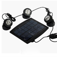 Solar Powered 3 Submersible Led Lamps 18 LEDS RGB Color Changing Floodlight For Outdoor Jardin Swimming