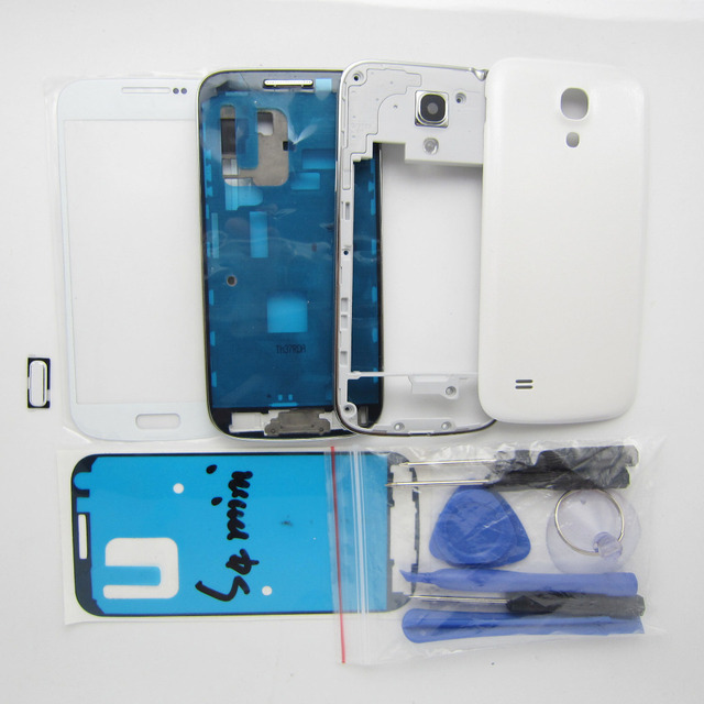 Full Housing Cover Repair Parts & Outer Glass & Repair Tools & Home Button For for Samsung Galaxy S4 SIV Mini i9190 i9195