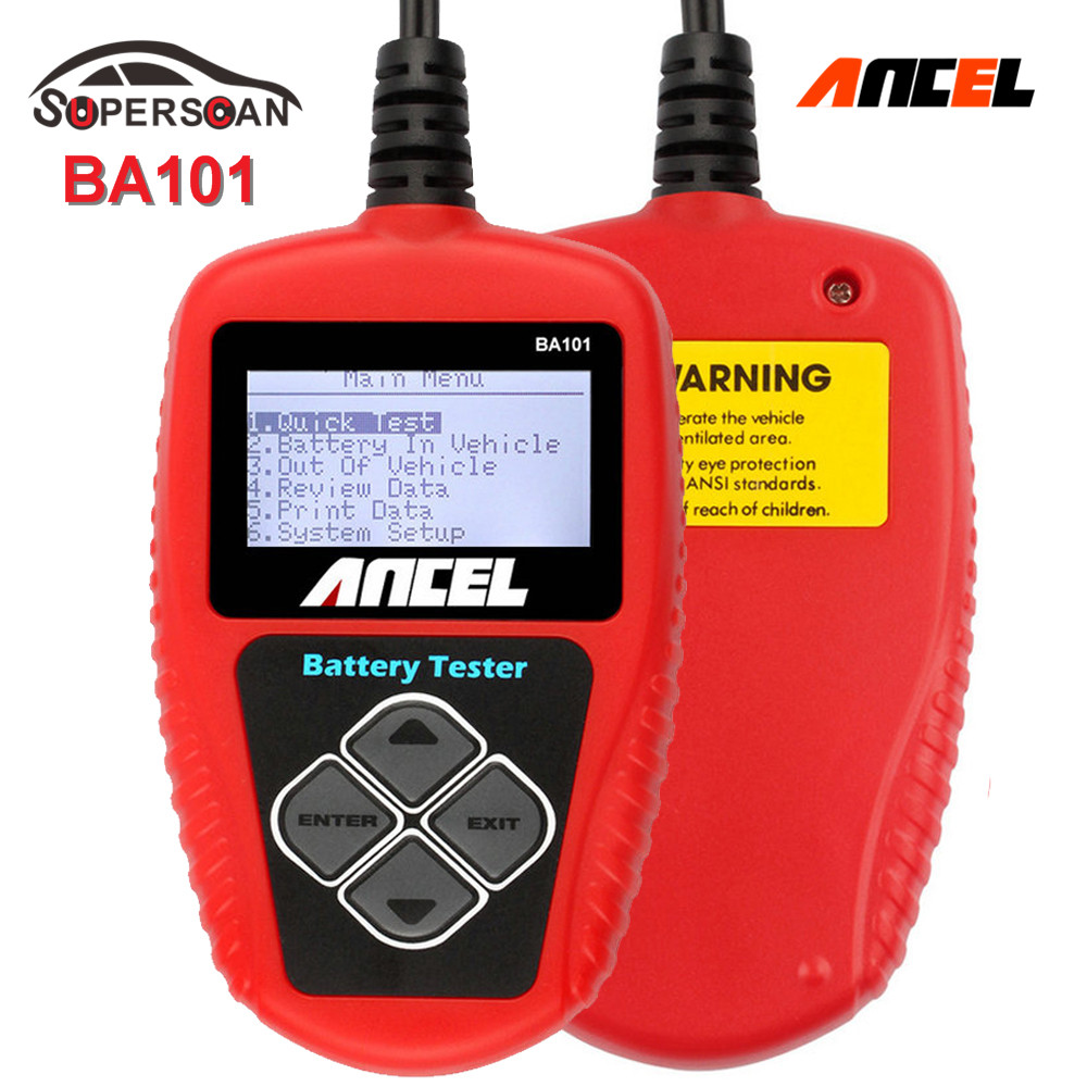 auto battery tester ancel ba101 automotive 12v vehicle battery tester ba101 car battery analyzer. Black Bedroom Furniture Sets. Home Design Ideas