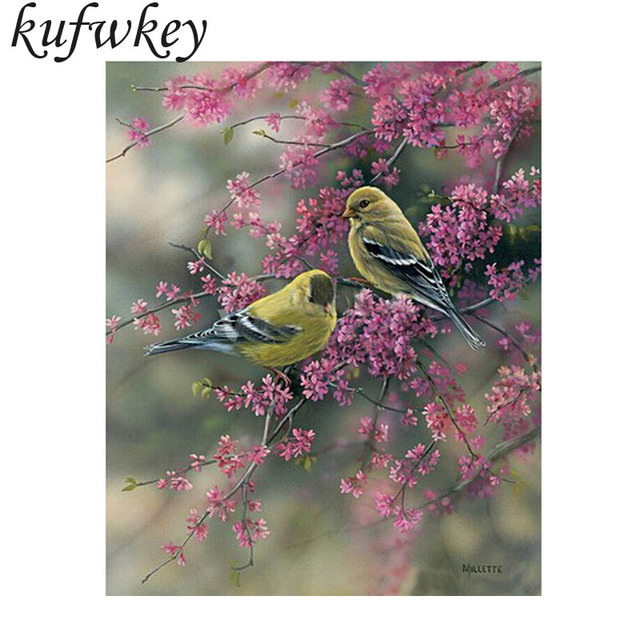 Hot sale size 50x60cm the lovely birds diy diamond painting embroidery square rhinestone fashion sticker home