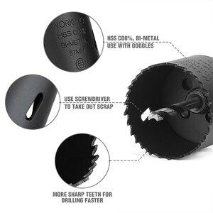 Image 5 - Workpro 9Pc Hss Kernboren Universele Hole Saw Set Hoge Snelheid Staal Carbide Tip Hole Saw Tooth Voor hout Metaal