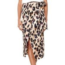 Шифоновая плиссированная Женская юбка, плюс размер, Леопардовый принт, винтажная Длинная женская Повседневная плиссированная летняя юбка Z4