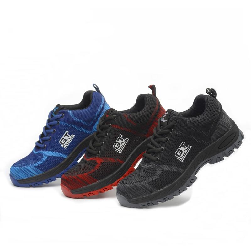 Atemschutzmaske Drei Farben Comfortabl Elektrische Schweißen Schuhe Anti-auswirkungen Punktion Licht Gewicht Sicherheit Schuhe Und Durable High-top Acecare ZuverläSsige Leistung