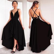 Large size A2019 spring and summer high-end elegant fashion strap sexy dress