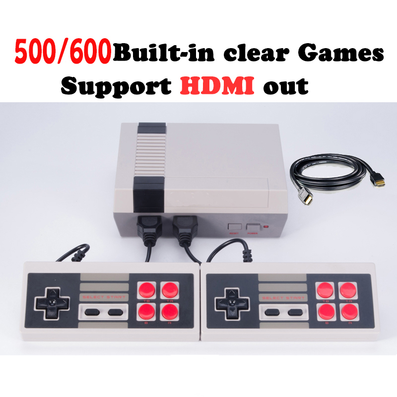 HDMI Output 8 Bit Retro Classic handheld game player Family TV video game console Childhood Built-in 500/600 Games mini Console