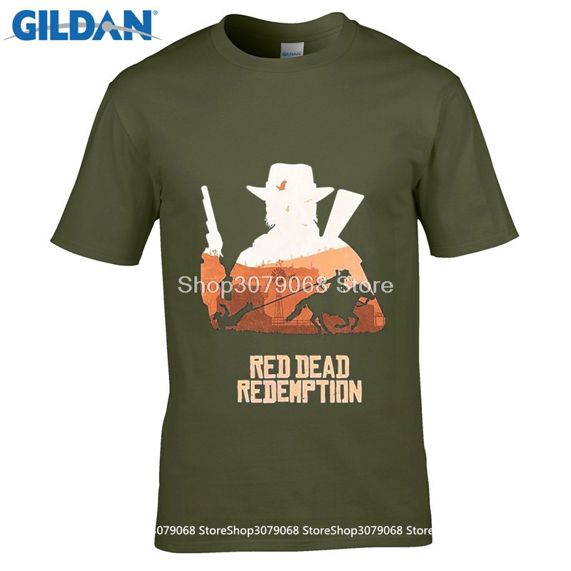 GILDAN New Men'S Casual Letter Printed Top Quality Men'S Tees Best Red Dead Redemption John Marsto Movie T Shirt