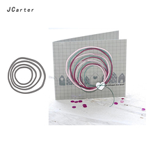 цены на JC Metal Cutting Dies for Scrapbooking Dies Circle Shape Craft Stencil Folder Paper Die Cut for Card Making Model Decoration Die  в интернет-магазинах