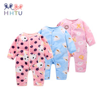 HHTU Baby Rompers Clothing Winter Boys Girls Thickening Long Sleeve Cute Clothes Autumn Warm Newborn Infant