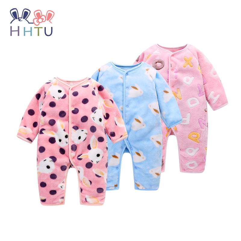 HHTU Baby   Rompers   Clothing Winter Boys Girls Thickening Long Sleeve Cute Clothes Autumn Warm Newborn Infant Jumpsuit
