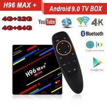 H96 MAX Plus Android 9.0 4GB RAM 32GB 64GB ROM TV Box 4K H.265 2.4G/5G WIFI BT 4.1 Google Voice Control Set Top Box 4GB 64GB x96