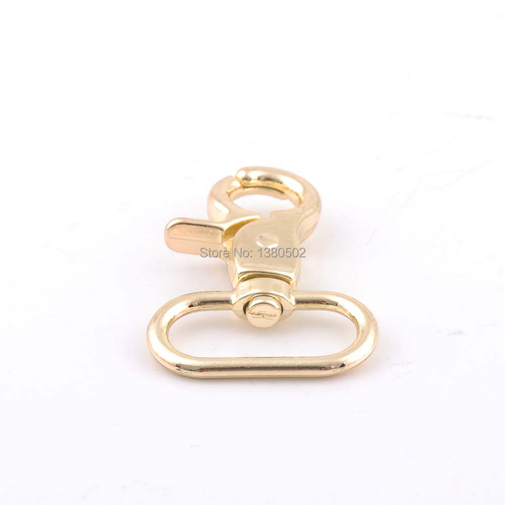 2pcs 46*26mm black and gold color Snap Hooks buckles Spring Hooks key chain for bag