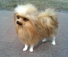 new creative Pomeranian dog toy plush brown simulaiton Pomeranian dog doll gift about 23x20x9cm