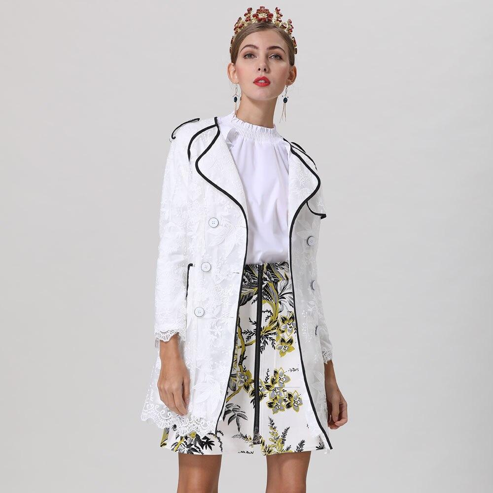 Rot RoosaRosee Neue Elegante Blume Stickerei Handgelenk Ärmel Zweireiher Weiß Kleid 2019 Designer Frauen Frühling Sommer Vestidos-in Kleider aus Damenbekleidung bei  Gruppe 3