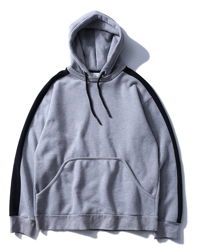 Aolamegs Hoodies Men Side Striped Hood High Street Pullover Cotton Fashion Hip Hop Streetwear Casual Big Pocket Hoodie Autumn (32)